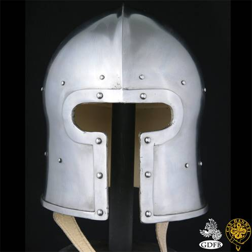 Gallery » T Face Barbute Helmet, 14G • King of Swords – The
