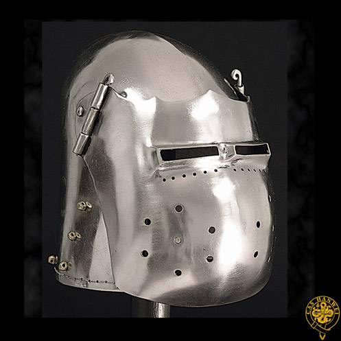 Great Fighting Bascinet Helmet, 14G, Large