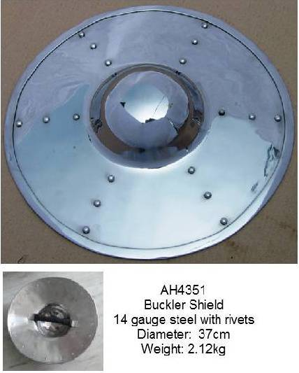 Buckler Shield with steel rivets
