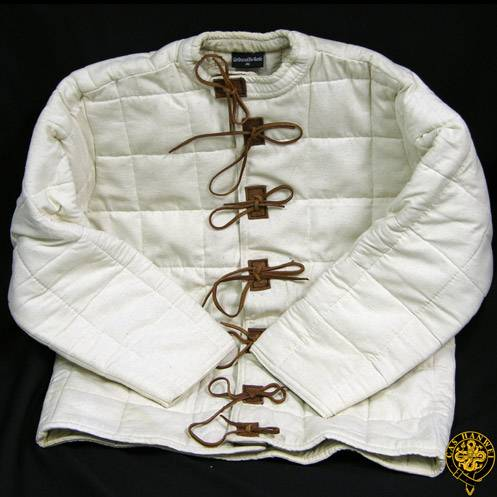 Arming Jacket, Large, Natural, Leather Tie Closure