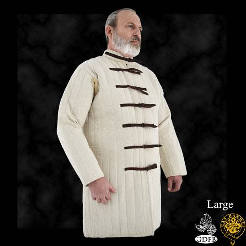 Gambeson, Large, Natural, Buckle closure.