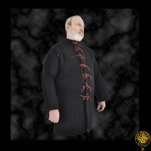 Gambeson, XX-Large, Black, Leather Tie closure.