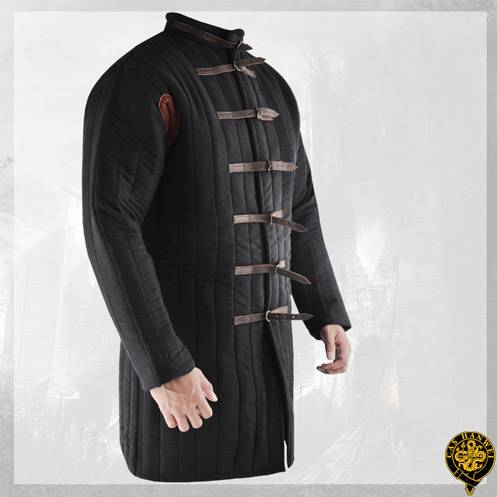 Gambeson, Large, Black, Buckle Closure