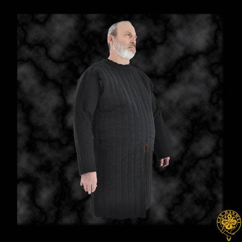 Closed Front Gambeson, Large, Black
