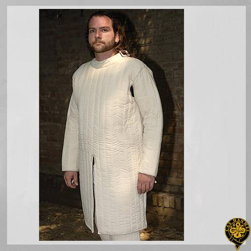 Closed Front Gambeson, X-Large, Natural