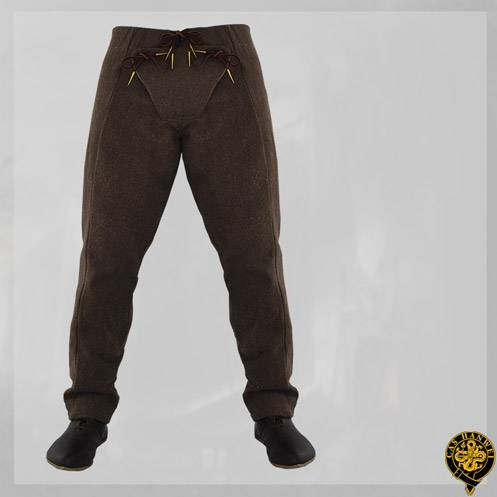 15th Century Pants, Brown, L