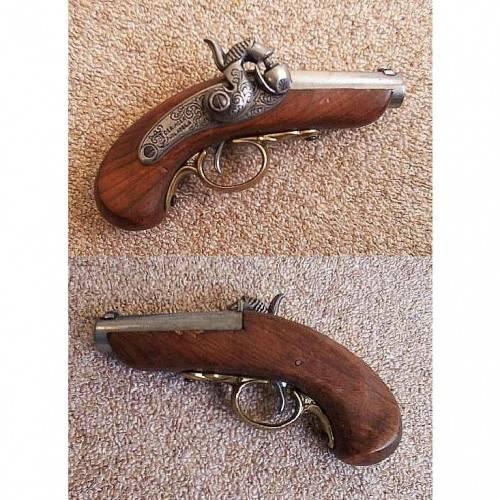 Gallery » Baby Philadelphia Derringer pistol, USA 1850  • King of