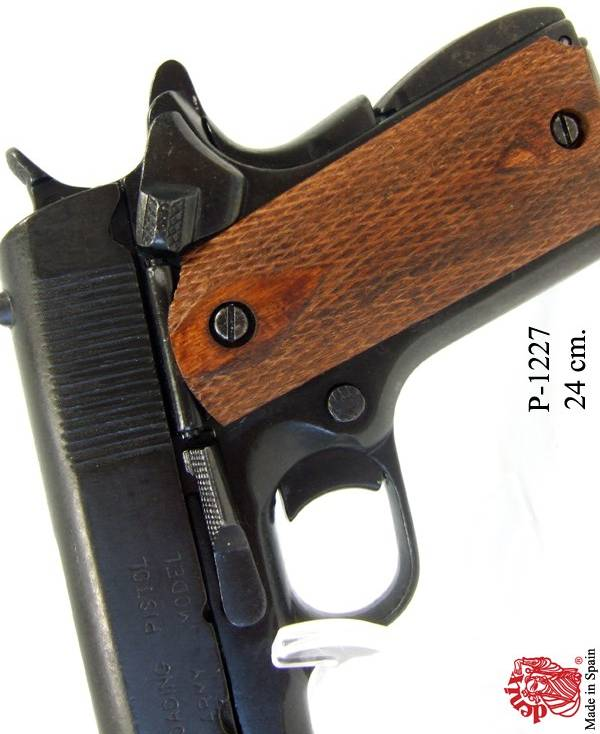 Colt 1911  Chequred Wood Grips  WW 2