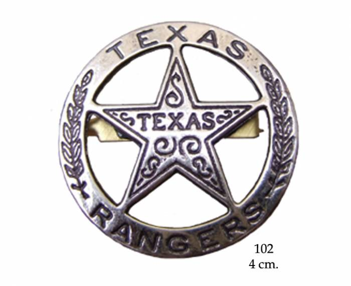 Texas Rangers circle star cut-out badge
