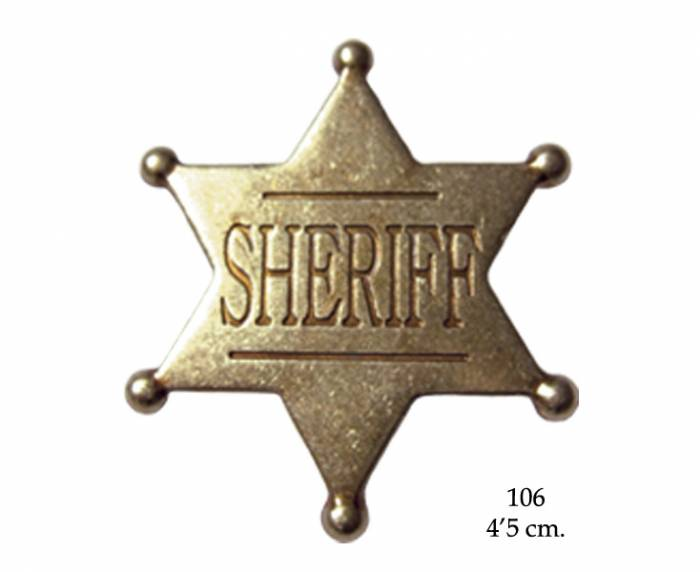 Six point ball tipped star badge