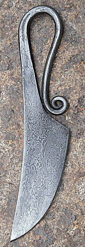 Damascus Steel Eating Knife