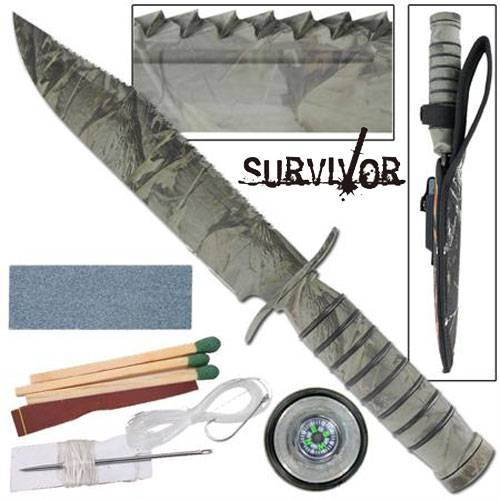 Fighter Survivor Camouflage Military Hunting Knife