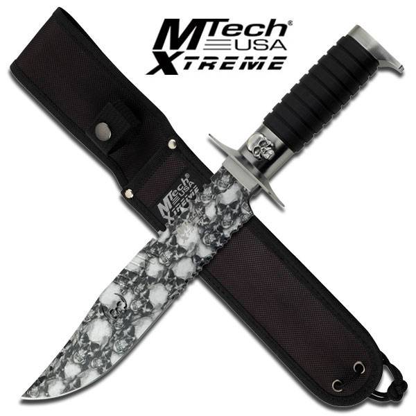 M Tech Skull Coated Heavy Tactical Hunting Knife
