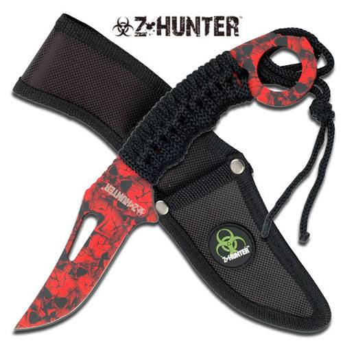 "Z-HUNTER Red FIXED BLADE KNIFE 8.5"" OVERALL"