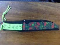 Zombie Hunter Knife - Red and Green