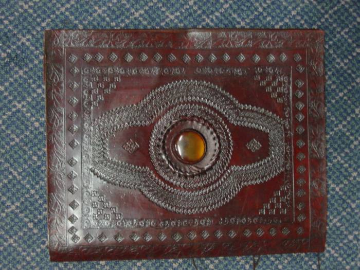 Large Leather Embossed Album