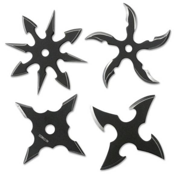 4pc Throwing Star Set
