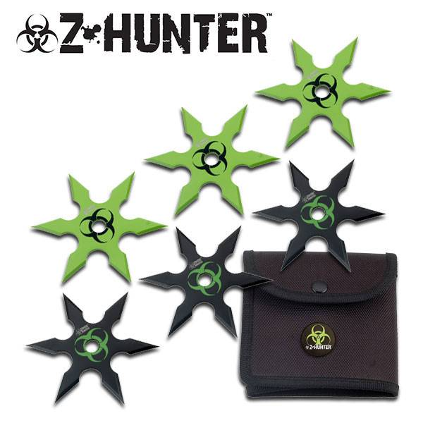 "Zombie Hunter "" 6pc Throwing Star"