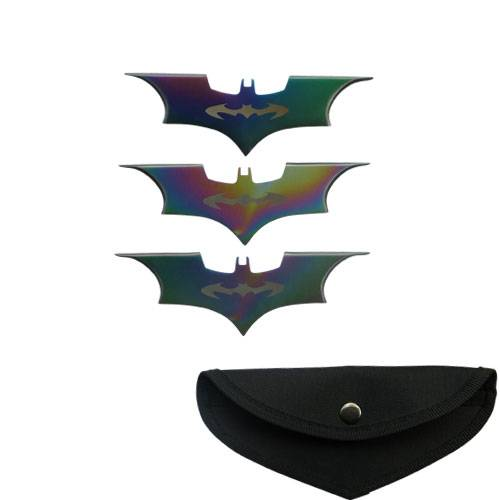 Bat Throwing knife Rainbow Color