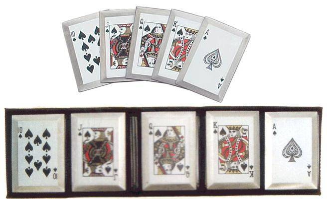 Royal Flush Throwing Cards - Spades
