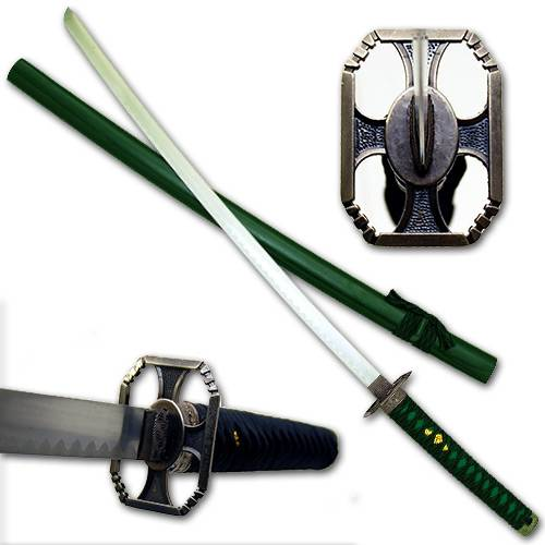 Green Warrior Katana Sword