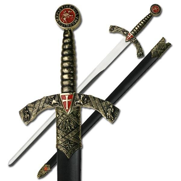 Knight's Templar Sword with Scabbard
