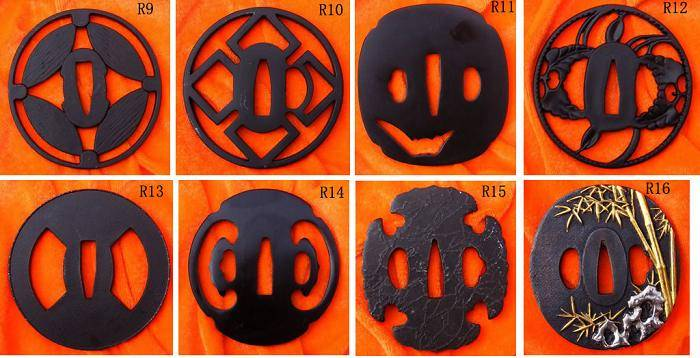 R series Iron Tsuba R9 to R16